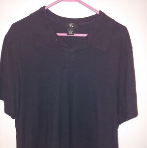 Calvin Klein button up tee shirt